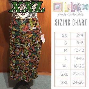 LuLaRoe XXL Feathers Cassie Pencil Skirt